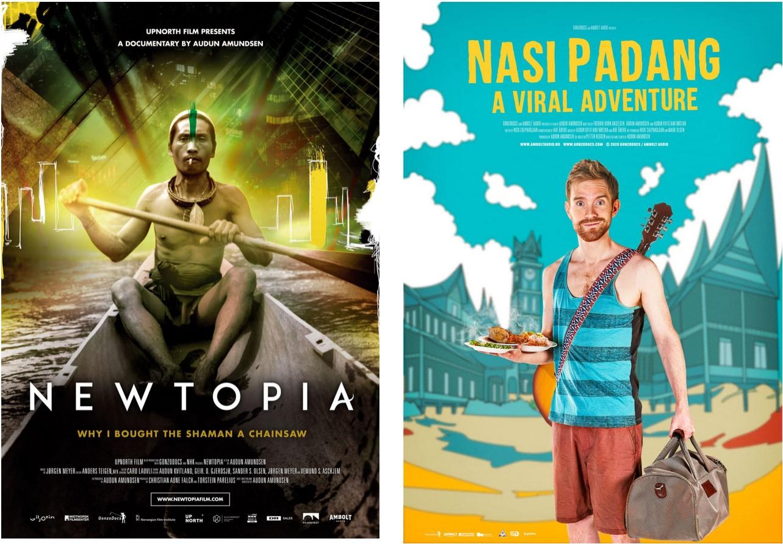 Filmplakater for Newtopia og Nasi Padang.