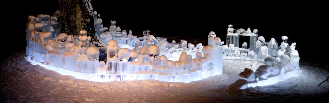 Unikt IsSkulptur-prosjekt med elever fra Færder kommune